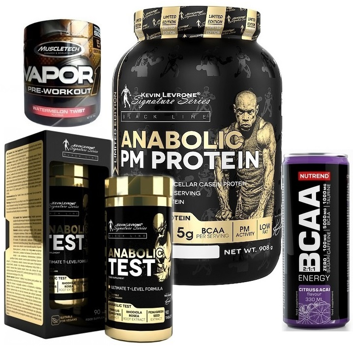Kevin Levrone PM Protein - 908 g + Kevin Levrone Anabolic Test - 90 tbl