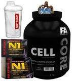 N1 Pre-Workout - 10 x 17 g + Cell Core - 3000 g