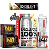 N1 Pre-Workout - 10 x 17 g + Deluxe 100 % Whey Protein - 2250 g