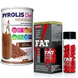 Pyrolis Diet Milkshake - 442 g + Fat Direct - 60 cps