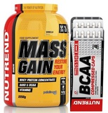 Mass Gain - 2250 g + BCAA Compressed Caps - 120 cps