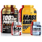 100% Whey Protein - 2820 g + Mass Gain - 2250 g