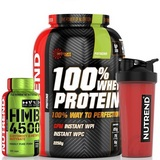 100% Whey Protein - 2270 g + HMB 4500 - 100 cps