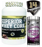 Superior 14 Whey core - 2270 g + Superior 14 BCAA + B6 - 120 cps
