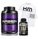 Kaged Muscle Micellar Kasein Isolate - 1800 g + Warrior DAA - 120 cps