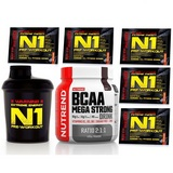 BCAA Mega Strong Drink - 400 g + N1 Pre-Workout - 5 x 17 g